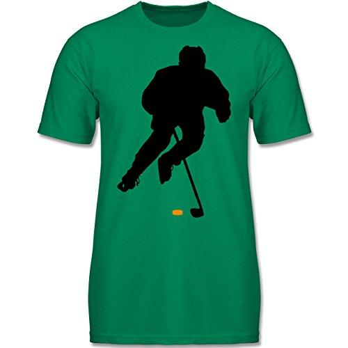 Sport Kind - Eishockey Spieler - 140 (9-11 Jahre) - Grün - F140K - Jungen T-Shirt
