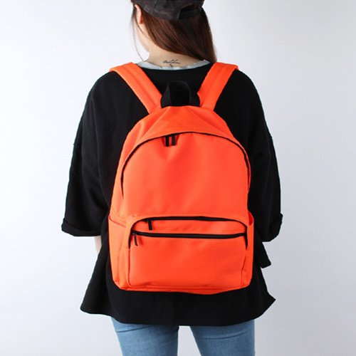 Bubilian BTBB Backpack / Korean Street Brand / School Bag / Travel Bag (Indie Blue) Bright Orange
