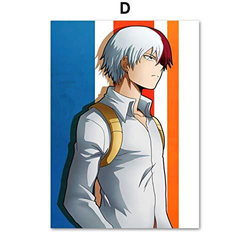 XWArtpic Anime My Hero Academia Alle Macht Wandkunst Leinwand Malerei Nordic Poster Und Drucke Wandbilder Für Wohnzimmer Kinderzimmer Dekor D 60 * 80 cm -