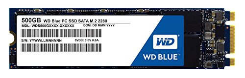 Price comparison product image WD Blue M.2 500GB Internal SSD Solid State Drive - SATA 6Gb/s 2.5 Inch - WDS500G1B0B