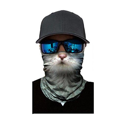 Kxnet Nahtlos Atmungs Motorrad Biker Snowboards Halb Gesichtsaske,Tiergesicht Radfahren Gesichtsmaske,Staubschutz für Outdoor Trekking Skateboarden (C)