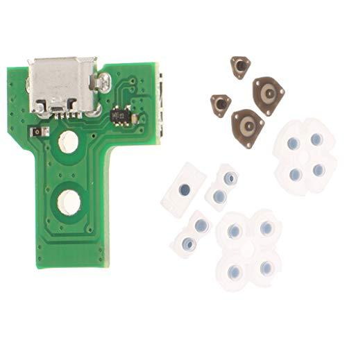Baoblaze Set Knöpfe aus Gummi, Fahrer, für PS4-Controller + USB-Ladeanschluss (Ps4 Fahrer)