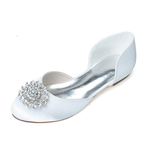 Clip donna in gomma con tacco tallone Sandal Flat Hollow Clip gemma White