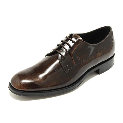 5018G scarpa donna marrone TOD'S gomma rv allacciato shoes women Marrone