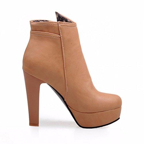 Les bottes d'hiver chaussures imperméable super Taille apricot