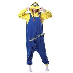 Cute Minion Unisex Adult Pajamas Kigurumi Animal Onesie Cosplay Costumes Animal Outfit