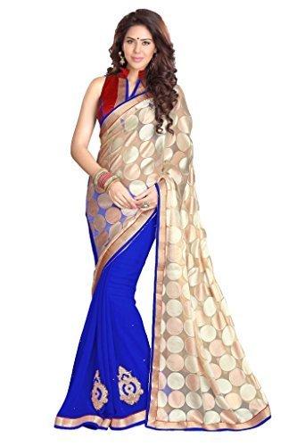 Sourbh Georgette Saree (8220_Royal Blue)