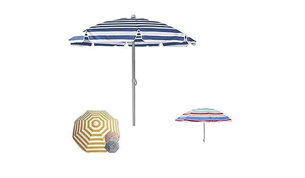 takestop/® OMBRELLONE Mare Protezione UV Parasole 180 CM TERRAZZA Spiaggia Vacanze Sole Giardino Terra Sabbia Colore Casuale