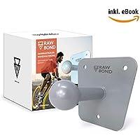 Rawbond Pared para portabicicletas | Incluye Juego de Tornillos, Disco de U & Tacos | Extra Larga Soporte de Pared para tu-Trasero Bicicleta | Soporte con Gratis eBook