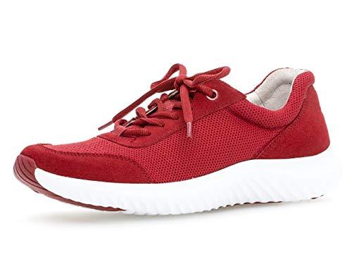 Gabor Damen Low-Top Sneaker 26.981.48, Frauen Halbschuh,Sportschuh,Schnürschuh,atmungsaktiv,red,40 EU / 6.5 UK
