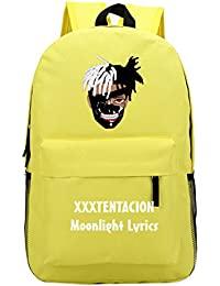 Dondonmin Xxxtentacion Backpack Cartoon Printing Unisex Schoolbag Canvas  Daypack Students Hiking Travel Bag 0ce0dcf9e3025