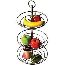 3 niveaux Chrome-Corbeille Coupe à fruits et légumes en acier