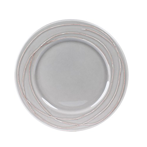 TABLE PASSION - ASSIETTE PLATE 27 CM FILIA GRIS (LOT DE 6)