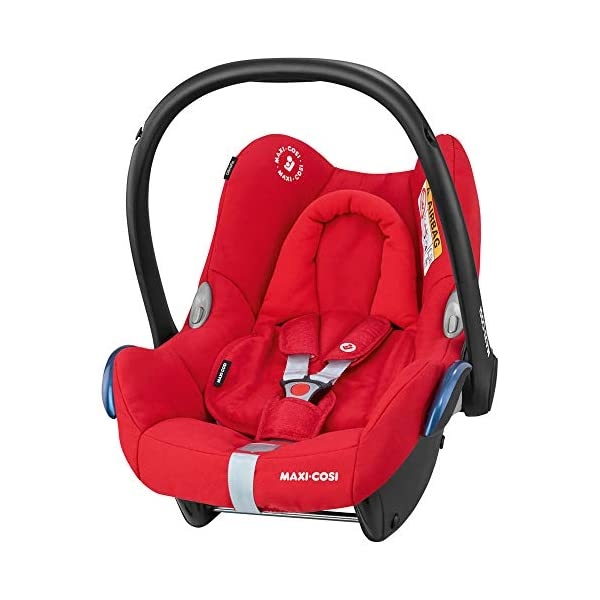 Maxi-Cosi CabrioFix Baby Car Seat with FamilyFix ISOFIX Base, Nomad Red Maxi-Cosi Baby car seat, suitable from birth to 13 kg (birth to 12 months) Side protection system for optimal protection against side impact ISOFIX car seat base suitable for children up to 18 kg (from birth to 4 years) 2