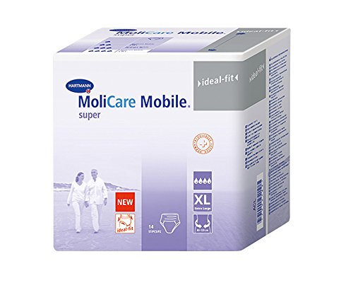 MoliCare Mobile super, Gr. 4 (XL), 4x14 Stk., DISKRETER VERSAND, Inkontinenz-Pants für Damen/Herren bei starker Inkontinenz