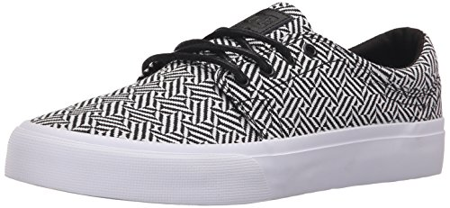 DC Shoes Trase SE Uomo US 10 Bianco Scarpe Skate UK 9 EU 43