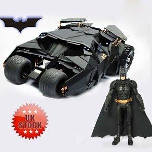 Die Batman Dark Knight Batmobil Tumbler schwarz Auto vehecle Toys mit Figur