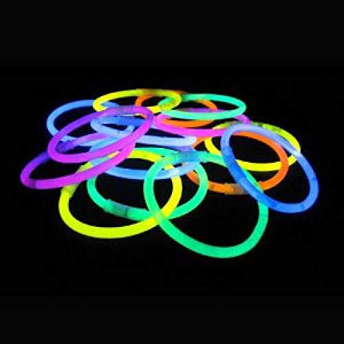 100 Knicklichter Glow Sticks 20cm Leuchtsticks verschiedene Farben Light Up Glow Sticks Armband Ketten LED-Blinklicht Neon für Party, Jäten, Weihnachten und Dancing Clubs