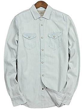 Resorte Salvaje Calle Ocasional De Europa Y América Y El Otoño Camisa De Algodón De Manga Larga Blusa Camisa Suelta