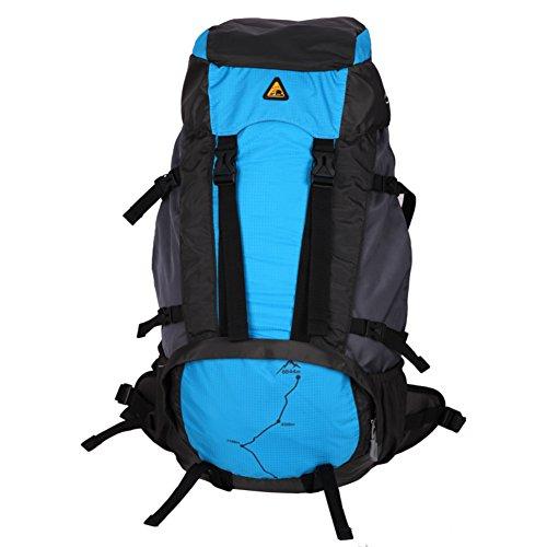 Doppelte Schultertasche Outdoor-Tasche/Große Kapazität Multi-Funktions-Rucksack/Berg-Umhängetasche-blau 60L blau