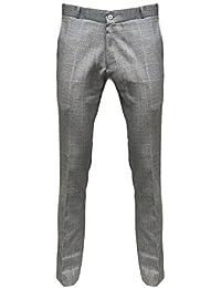 Relco - Pantalon en Prince de Galles Sta-Press - noir/blanc - tailles US 28-40