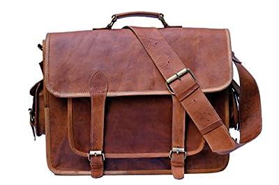 KGNExportsHouse , 16 Pouce Laptop Bag Sac Voyage Baggage Bureau Bandoulière sacoche business cartable Cuir Besace Travail Sac Ordinateur Portable Pour Sacoche Homme Femme – Marron