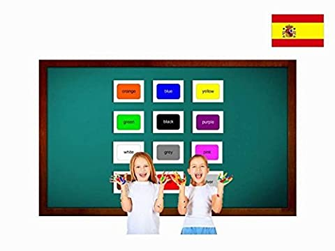 Bildkarten zur Sprachförderung in Spanisch - Farben - Tarjetas de vocabulario - Los colores