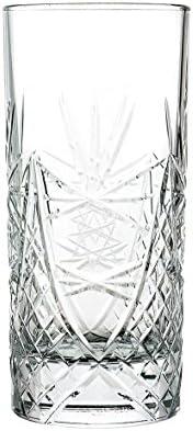 """Bicchiere Long Drink in cristallo cl 36 con LAVORAZIONE ARTIGIANALE """"RICCO"""" – Set 2 pezzi"""