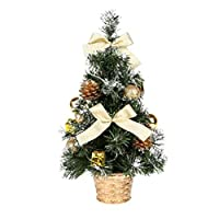 OSALADI Mini Artificial Christmas Tree With Ornaments Tall Christmas Pine Tree For Christmas Decoration Table And Desk Tops (Random Color)