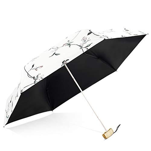 DORRISO Plegable Paraguas Mini Mujer Multiuso Resistente