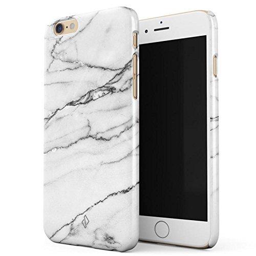iPhone 6 / 6s Hülle, BURGA Licht Silber Weiß Marmor Marble Dünn, Robuste Rückschale aus Kunststoff Für iPhone 6 / 6s Handyhülle Schutz Case Cover (Teal Color-iphone 6 Case)