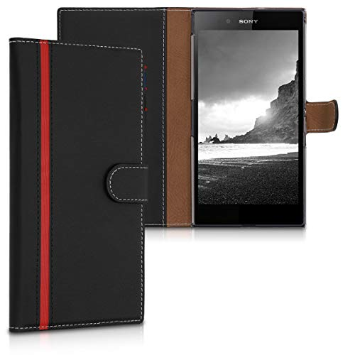 kwmobile Sony Xperia Z Ultra Hülle - Kunstleder Wallet Case für Sony Xperia Z Ultra mit Kartenfächern & Stand