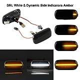 OZ-LAMPE Switchback DRL Weiße und dynamische Seitenblinker Gelb Blinker Fließende Seitenblinker Rauch Für Aud-i A3 S3 8P A4 S4 RS4 B6 B8 A6 S6 RS6 C5 C7 A8 D3 TT 8J Roadster