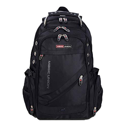 Herren Reisetasche Schweizer Rucksack Polyester Taschen Wasserdichter Diebstahlschutz Rucksack Laptop Rucksäcke MUBS37200BL