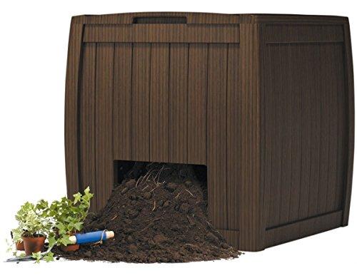 Keter 17196661 Komposter Deco Composter 350 L, Holzoptik, Kunststoff, braun