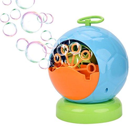 QINUKER-Blasen-Maschine, automatischer Blasen-Gebläse-dauerhafter Blasen-Hersteller über 500 Bunte Blase Pro Minute für die Kinderweihnachtsfeiern, die Gebrauch 4AA-Batterie Wedding Sind