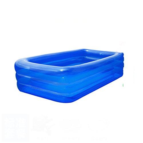 Kinderheim aufblasbare Schwimmbad Familie große Spiel Pool erhöhte 66CM transparente blaue Bad ( größe : 200*150*66cm ) (66 Aufblasbare Pool)