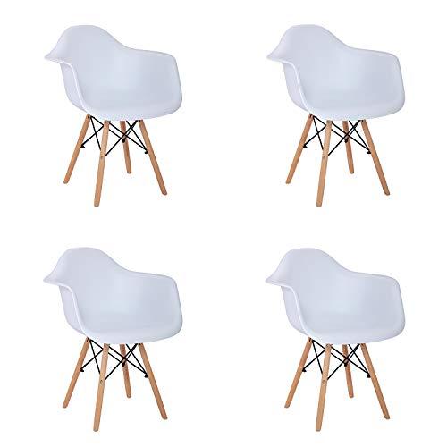 53 x 47 x 82 cm Bianco J/&L HOME Set di 6 sedie Sedia da Pranzo in Stile Nordico