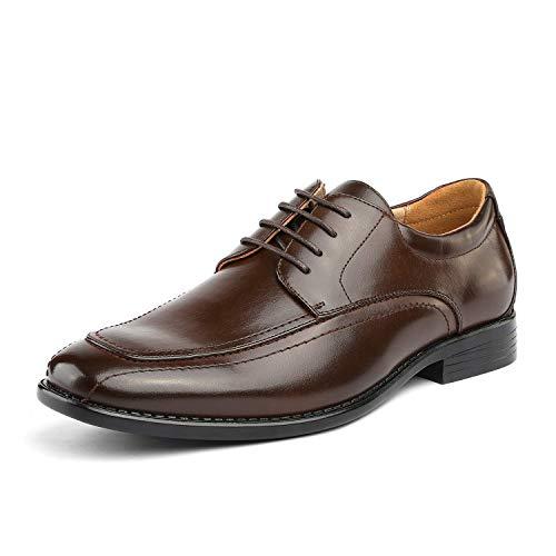 Bruno Marc DP05 Zapatos de Cordones Vestir Oxford para Hombre Marrón Oscuro 46 EU/12 US