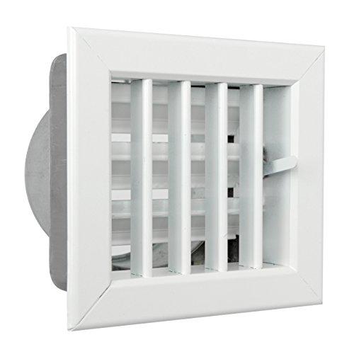La ventilación gcsib1413080-y Rejilla integrado para chimeneas, aluminio lacado blanco, 140x 130mm