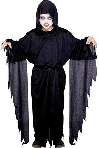 Kostüm Screamers - Fancy Me Jungen schwarz Screamer Gespenstisch Evil DUNKEL Death Sensenmann gruselig Geister Robe mit Kapuze Halloween Kostüm Kleid Outfit 4-12 Jahre - Schwarz, 7-9 Years