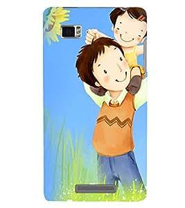 Printvisa Premium Back Cover Father Daughter in A Field Design for Lenovo Vibe Z K910