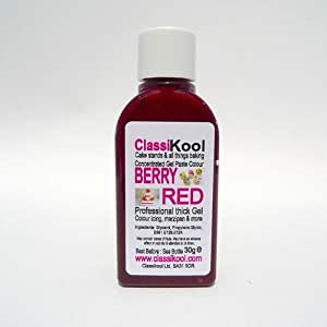 Classikool 30g Berry Red Concentrated Gel Food Paste Colouring Colour
