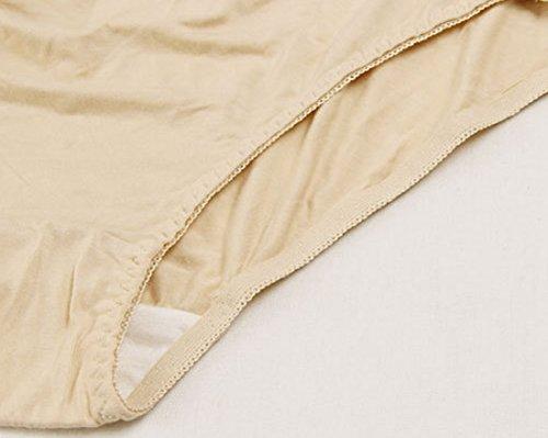 Aivtalk Damen Umstandsmode Unterhose Schwangerschaft Hoch Bund Slip für Schwangere Modal Hoch Taile Schwangerschaftsslip Umstand unterwäsche Größe Farbe Wählbar Beige