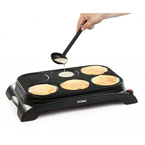 Domo DO8709P Pancake/Crepe Maker, Plastic, 1000 W, Black