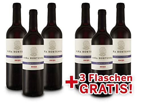 Viña Hortensia | Tempranillo | Preferido | Rioja | Spanien | Vorteilspaket 6 für 3 | Rotwein