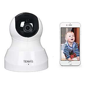 Original Tenvis professional Indoor mini wireless wifi security CCTV IP Camera webcam baby monitor JPT3815/JPT3815W, 2-way audio, night version, PT control, iphone & android mobile view - White