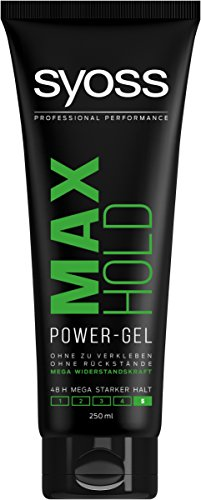 Syoss Max Hold Power-Gel, Haltegrad 5, Mega stark, 6er Pack (6 x 250 ml)