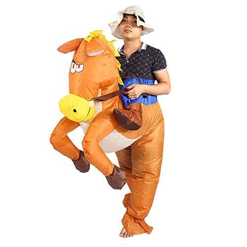 lahomie Pferdeaufblasbarer Erwachsener Kostümanzug, aufblasenden fantastischen Pferdeanzug für Parteien Cosplay-Festivals