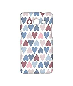 Platform73 - Hearts Pattern 1 - Phone Case Mobile Back Cover for Samsung Core 2